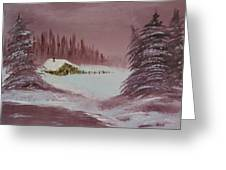 Whose Woods Greeting Card