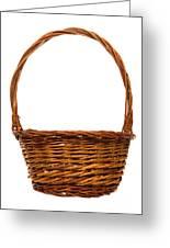 Wicker Basket Number Twelve Greeting Card