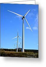 Wind Turbine Farm  Greeting Card