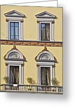 Windows Of Tuscany Greeting Card