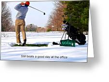 Winter Golf Greeting Card