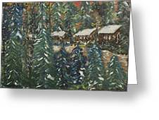 Winter Has Come To Door County. Greeting Card