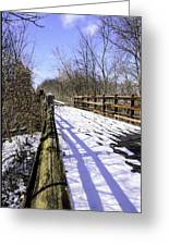 Winter On Macomb Orchard Trail Greeting Card