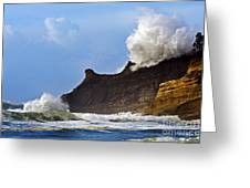 Winter Storm At Cape Kiwanda - Oregon Greeting Card