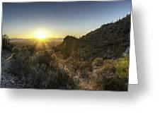 Winter Sunset Greeting Card by Lynn Geoffroy
