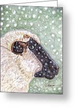 Wishing Ewe A White Christmas Greeting Card