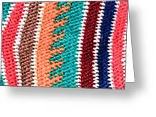 Wool Pattern Greeting Card by Tom Gowanlock