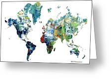 World Atlas  Greeting Card