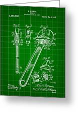 Wrench Patent 1915 - Green Greeting Card