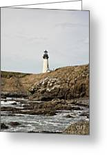 Yaquina Head Lighthouse - Pov 1 Greeting Card