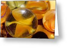 Yellow Marbles Greeting Card