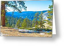 Yosemite Valley Mountainside From Sentinel Dome Trail In Yosemite Np-ca Greeting Card
