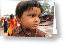 Young Boy Orchha  Greeting Card