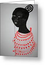 Dinka Bride - South Sudan Greeting Card