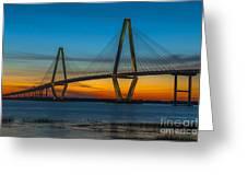 Arthur Ravenel Jr. Bridge At Sunset Greeting Card