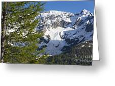 Snow-capped Mountain Greeting Card