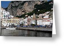 Views From The Amalfi Coast In Italy Greeting Card