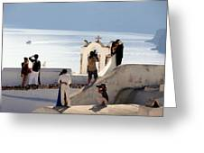 The Shoot On Santorini In Greece Greeting Card