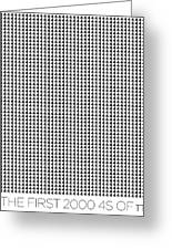 2000 4s Of Pi Greeting Card