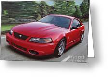 2001 Ford Mustang Cobra Greeting Card