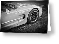 2002 Chevrolet Corvette Z06 Bw Greeting Card