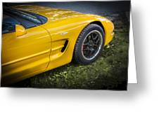 2002 Chevrolet Corvette Z06 Greeting Card