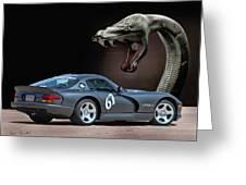 2002 Dodge Viper Greeting Card