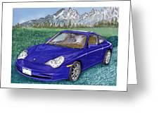 2002 Porsche 996 Greeting Card