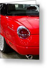2002 Red Ford Thunderbird-rear Left Greeting Card
