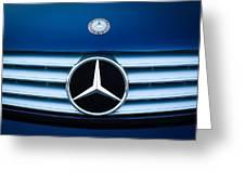 2003 Cl Mercedes Hood Ornament And Emblem Greeting Card