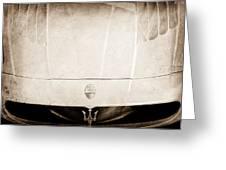 2005 Maserati Mc12 Hood Ornament Greeting Card