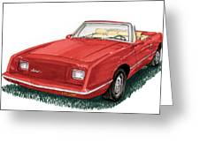 2006 Studebaker Avanti Greeting Card