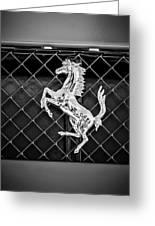 2007 Ferrari F430 Spider F1 Emblem -588bw Greeting Card