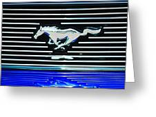 2007 Ford Mustang Grille Emblem Greeting Card