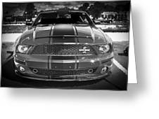 2007 Ford Mustang Shelbygt 500 427 Bw Greeting Card