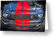 2007 Ford Shelby Gt 500 Mustang Greeting Card