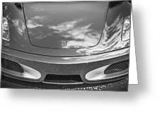 2008 Ferrari F430 Bw Greeting Card