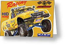 2008 Ford F-150 Racing Poster Greeting Card