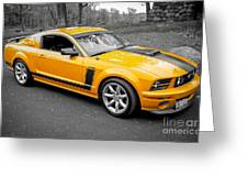 2008 Ford Mustang Rausch Supercharged Greeting Card