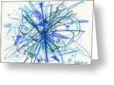 2010 Abstract Drawing 21 Greeting Card