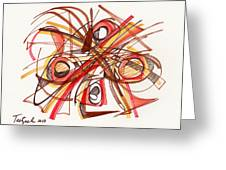 2010 Abstract Drawing 23 Greeting Card
