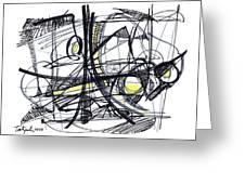 2010 Abstract Drawing 27 Greeting Card