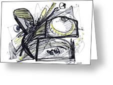 2010 Abstract Drawing 28 Greeting Card