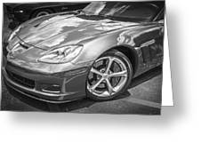2010 Chevy Corvette Grand Sport Bw Greeting Card