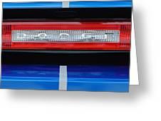 2011 Dodge Challenger Rt Hemi Taillight Emblem Greeting Card