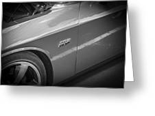 2011 Dodge Challenger Srt8 Hemi Bw  Greeting Card