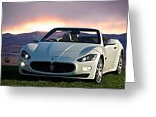 2011 Maserati Gran Turismo Convertible I Greeting Card