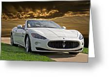 2011 Maserati Gran Turismo Convertible II Greeting Card