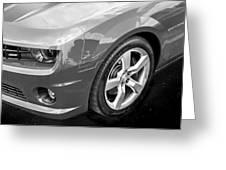 2012 Chevy Camaro Ss Bw Greeting Card