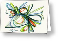 2012 Drawing #35 Greeting Card